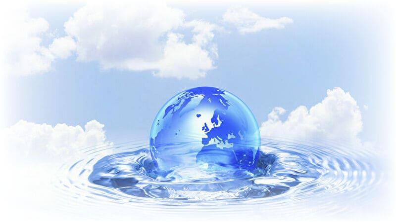 水に浮かんだ地球