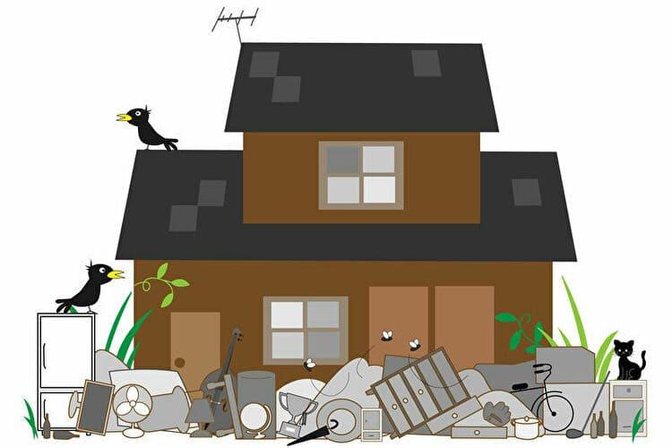 ゴミ屋敷のイラスト